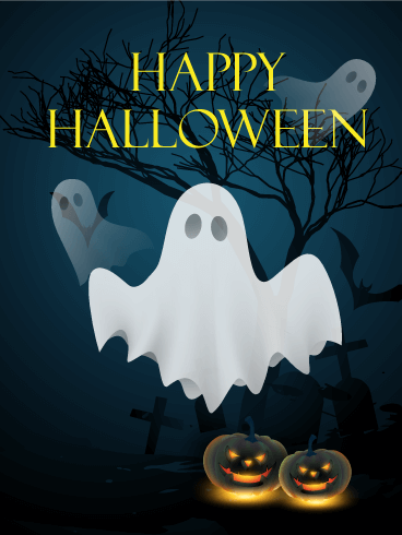 Do You See the Ghosts!? Happy Halloween Card