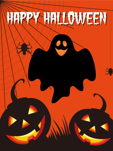 Spooky happy halloween card birthday greeting cards by davia happy halloween card bookmarktalkfo Images