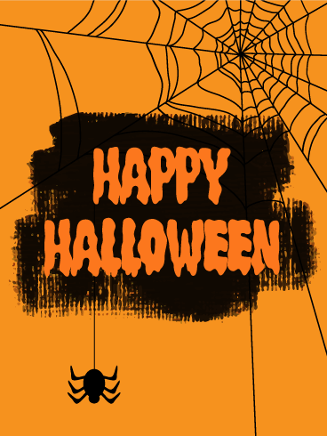 Creepy happy halloween card birthday greeting cards by davia happy halloween card bookmarktalkfo Images