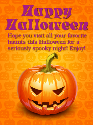 Charming Enjoy Your Spooky Night   Happy Halloween Card