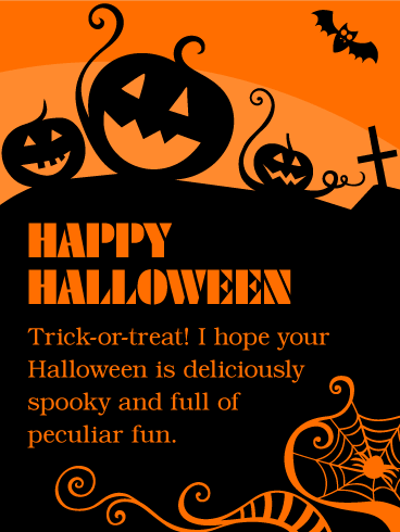 Have a Deliciously Spooky Fun! Happy Halloween Card