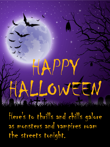 Thrills And Chills   Happy Halloween Card