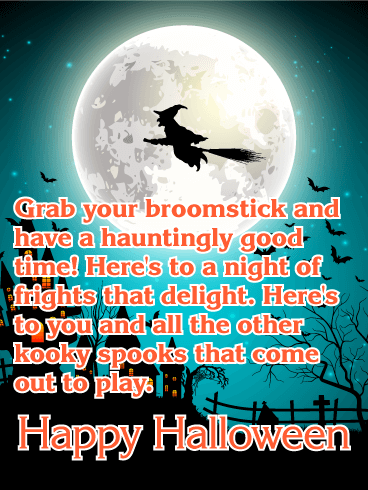 Have a Hauntingly Good Time - Happy Halloween Card