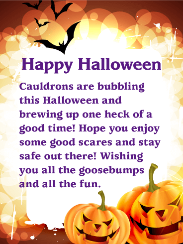 Wishing You all the Goosebumps - Happy Halloween Card