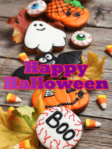 Happy Halloween Cookies Card
