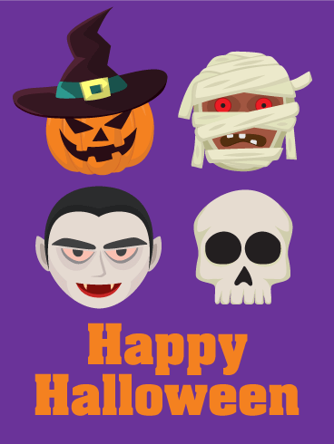 Scary! Halloween Ghosts Card
