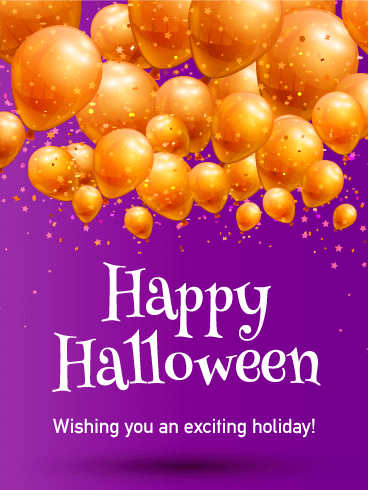 Balloon Happy Halloween Card