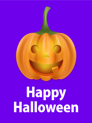 Joyful Pumpkin Happy Halloween Card