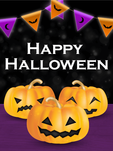 It's Party Time - Happy Halloween Card