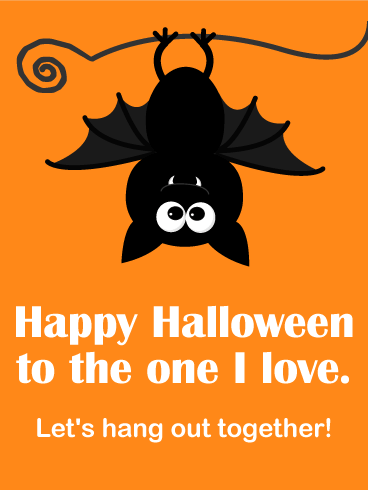Lets hang out together happy halloween card birthday greeting happy halloween card bookmarktalkfo Images