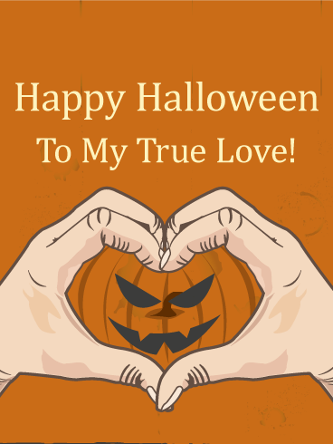 Love Pumpkin Heart Halloween Card