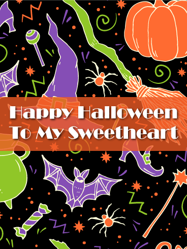 To my Sweetheart - Romantic Halloween Card
