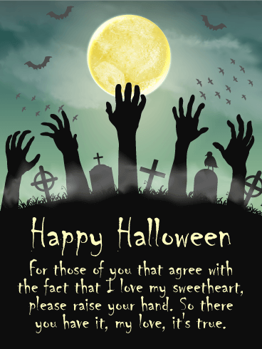 I Love my Sweetheart! Romantic Halloween Card