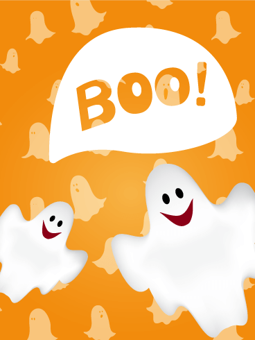 Cheerful Ghost Halloween Card