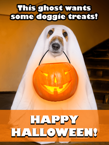 Doggy Ghost – Happy Halloween Card