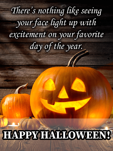 Jack-o'-lantern – Happy Halloween Card