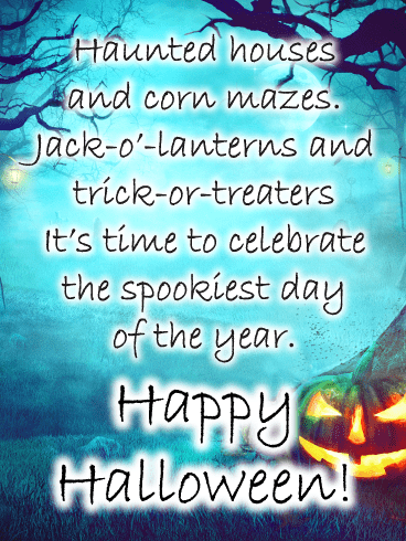 Spooky Forest – Happy Halloween Card