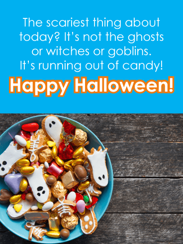 Scary candy bowl – Happy Halloween Card