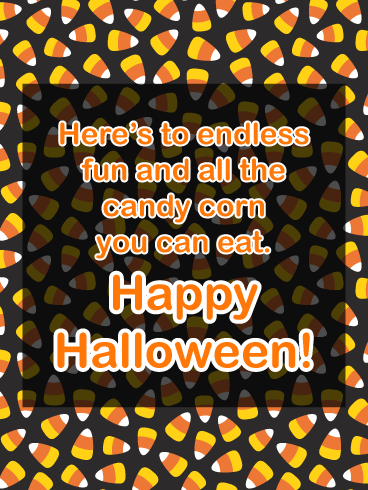 Candy corn – Happy Halloween Card