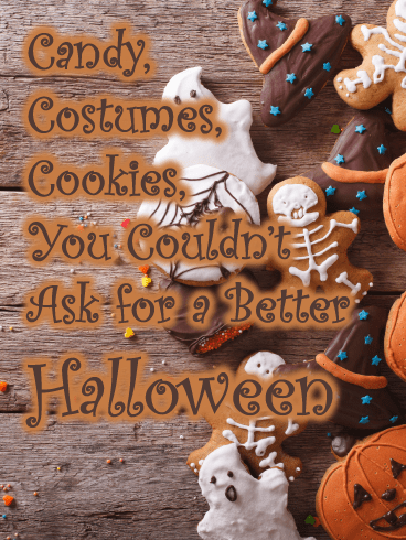 Spooky Cookies – Happy Halloween Card