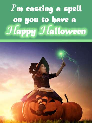 Witch Spell – Happy Halloween Card