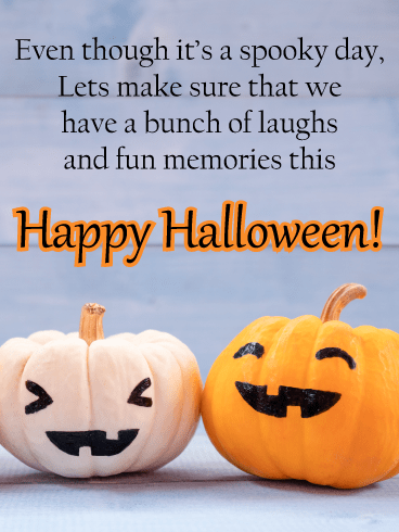 Laughing Pumpkins – Happy Halloween Card
