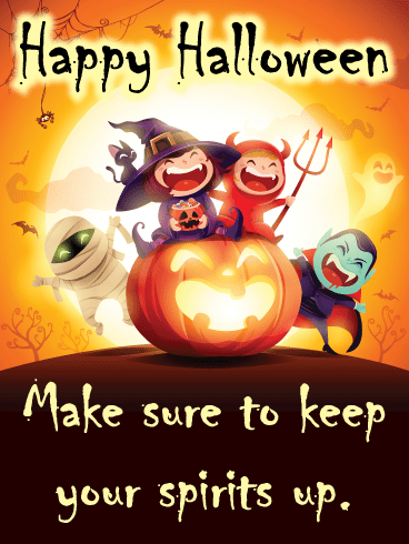 Kids Trick-Or-Treat – Happy Halloween Card