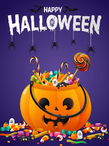 Happy Candy Bucket – Happy Halloween Card