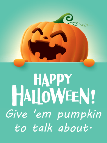 Happy Laughiing Jack-O'-Lantern – Happy Halloween Card
