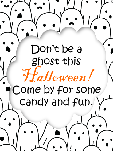 Fun Ghosts – Happy Halloween Card