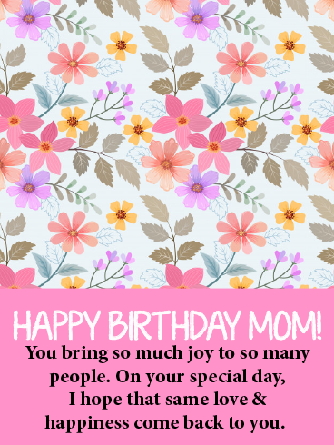 A Walking Miracle – HAPPY BIRTHDAY MOM CARDS