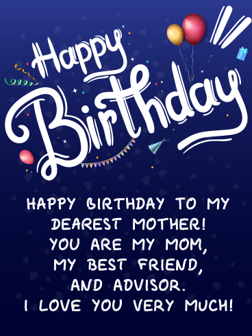 Mom's Big Day! – HAPPY BIRTHDAY MOM CARDS
