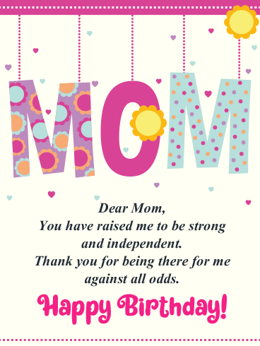 Work Of Art – HAPPY BIRTHDAY MOM CARDS