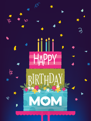 Sweet Cake & Confetti – HAPPY BIRTHDAY MOM CARDS