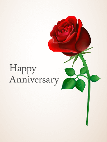 Red Rose Anniversary Card