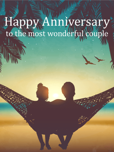 Sweet Moment - Happy Anniversary Card