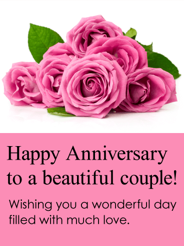 To a beautiful couple happy anniversary card birthday greeting happy anniversary card m4hsunfo
