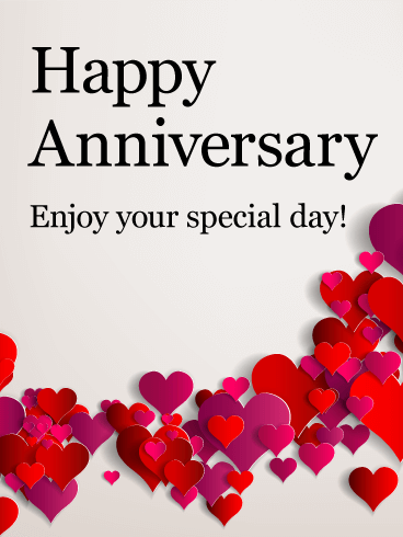 Enjoy your special day happy anniversary card birthday greeting happy anniversary card m4hsunfo