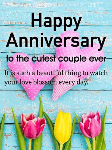 To the Cutest Couple - Happy Anniversary Card