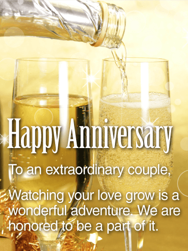 To an Extraordinary Couple - Happy Anniversary Card