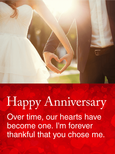 I'm For ever Thankful - Happy Anniversary Card