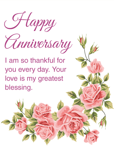 I am thankful for you happy anniversary card birthday greeting i am thankful for you happy anniversary card m4hsunfo