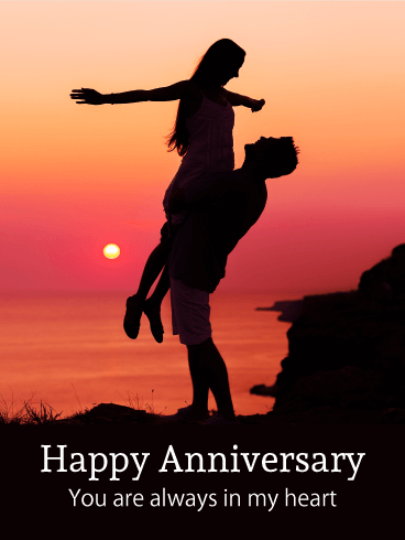 Romantic Lovers Anniversary Card