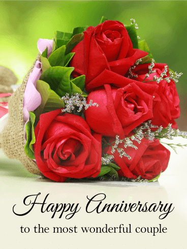 To the Most Wonderful Couple - Happy Anniversary Card