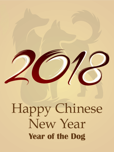Dog Background Chinese New Year Card