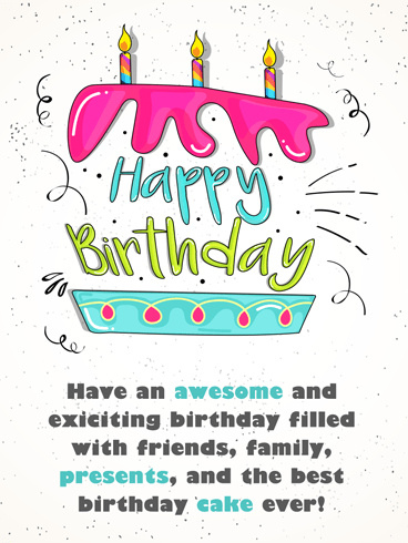 Happy Cake – Happy Birthday Card