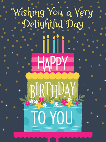 A Colorful Cake – Happy Birthday Card