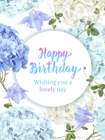 Flowery Birthday – Happy Birthday Card
