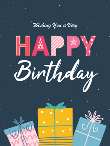 Presents for You – Happy Birthday Card