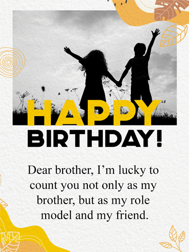 Brother For Life – Birthday Card for Brother
